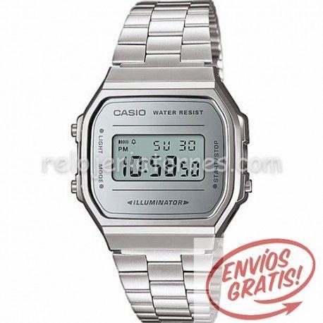 d9d22caf7d09 Reloj Casio retro unisex efecto espejo A168WEM-7EF